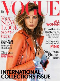 #DariaWerbowy By Patrick Demarchelier UK Vogue September 2013 .. I love!