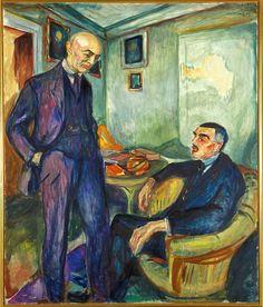 Edvard Munch, 1925-26, Lucien Dedichen and Jappe Nilssen, oil on canvas, 159.5 x…