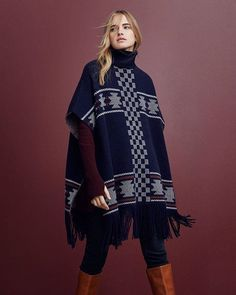 Tasselled, patterned ponchos: easy and chic.  25% off everything starts today (AU & NZ)  #countryroadstyle