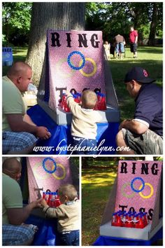 Carnival game ideas for Ava's party: Ring Toss, Kissing Booth, Tatoo Booth, Fish Bowl, Hungry Clown Bean Bag Toss, Face painting...etc.to do in addition to photo booth and bounce house. Now just to find parents to help man the stations!
