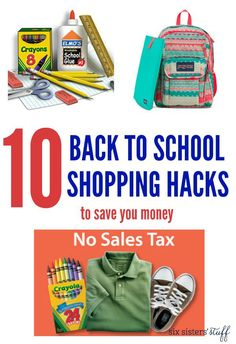 10 Back to School Shopping Hacks from Six Sisters' Stuff | Back to school costs can really add up - use these 10 shopping hacks to save you money!