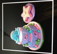 Under the Sea girls birthday cake
