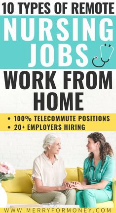 10 types of careers for RN nurses that hire nurses to work from home. Nurse jobs, remote career tips, non clinical away from bedside side hu. Best Nursing Jobs, Nursing Career, Nursing Blogs, Funny Nursing, Ob Nursing, Rn Jobs From Home, Earn Money From Home, Healthcare Jobs, Medical Careers