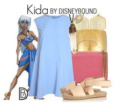"""Kida"" by leslieakay ❤ liked on Polyvore featuring Disney, BARONI, Emilio Pucci, Glamorous, Prism, Kasturjewels, disney, disneybound and disneycharacter"