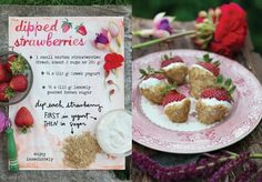The Forest Feast Cookbook Interview and Giveway - plus the recipe for Dipped-Strawberries