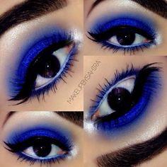 Royal blue smokey eye