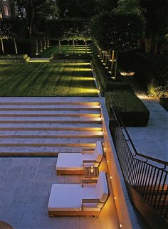 How to Light Your Outdoor Spaces - Stairway & Open Area  |  Akin Design Studio Blog