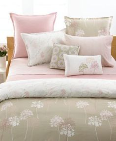 Style Co Bedding Wildflowers Rose Pink Waves King Bed Coverlet