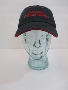 MERCEDES CHAMPIONSHIPS EMBROIDERED BLACK HAT WITH RED TRIM ADJUSTABLE OSFM #MercedesBenz #BaseballCap