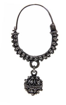 Traditional silver filigree earring from Split, Croatia.