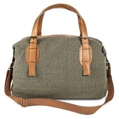 Women's Canvas Weekender Handbag Olive - Mossimo Supply Co