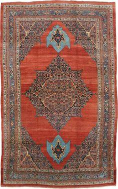 "Persian Bidjar rug, 9' 5"" x 15' 5"", J.H. Minassian gallery"