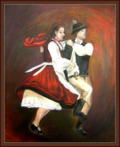 Székely táncosok Anna, Traditional, Painting, Painting Art, Paintings, Drawings