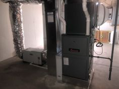 Lennox downflow 2 stage furnace, bypass humidifier, and
