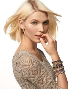 Love the look of stacked bracelets. #whbm #spring ( & sweater)