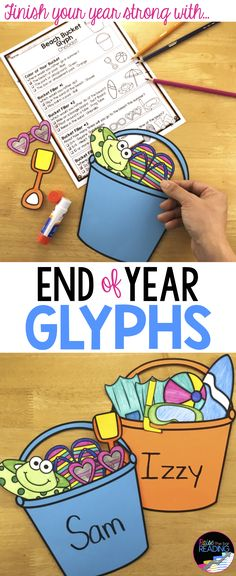 End of Year Glyphs! A great end of year craft that makes a great bulletin board or classroom display! Works for grades End of Year Activities Beginning Of The School Year, Last Day Of School, Summer School, School Days, Summer Time, End Of Year Activities, First Grade Activities, Holiday Activities, Summer Activities