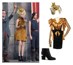 """""""Effie Trinket"""" by ximihix ❤ liked on Polyvore featuring Alexander McQueen, Alexander Wang, Hungergames, Reaping and effietrinket"""