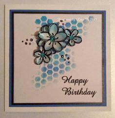 Handmade card. Lisa B stamps for Imagination Crafts.
