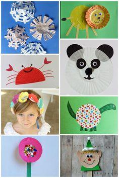 50+ Creative Cupcake Liner Crafts snowflakes