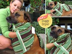 Bob's Doggie Dryer | even though I don't have a dog, and I don't wash the cats, this seems like a great idea