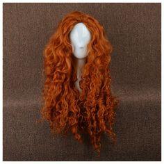 Disney Brave Merida Dark Curl Cosplay Wig