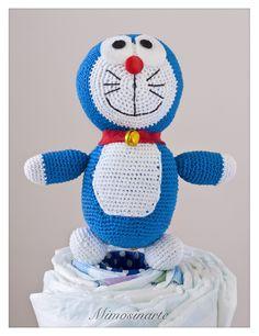 Compuesta por 40 pañales y un amigurumi hecho a mano con hilo de algodón. Según la tradición japonesa dan suerte y protegen al bebé. Couches, Children, Nappy Cake, Pies, Hand Made, Amigurumi, Bebe, Young Children, Boys