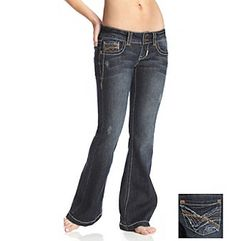 wallflower jeans | Product: Wallflower Vintage® Juniors' Dark Washed Contrast-Stitched ...