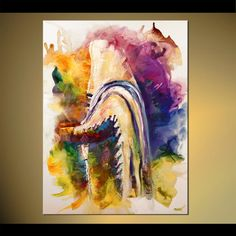 Judaica Print on Canvas Religious Print Jewish Art LIMITED EDITION 8 of 30 Embellished (brush strokes added by the artist) Osnat