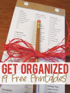 Get Organized! 10 Free Printables | How Does She