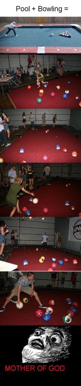 Life size pool! What a fun idea...