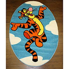 @Overstock - This contemporary Disney's Tigger rug is made of 100-percent nylon and features a non-skid backing. This area rug is the perfect finishing touch on your child's bedroom.http://www.overstock.com/Home-Garden/Disneys-Tigger-Rug-33-x-311/4849613/product.html?CID=214117 $29.49
