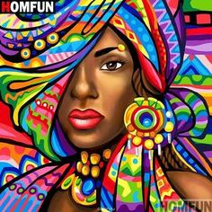 DIY Diamond Painting woman fantasy Home Decor Full Drill Nation Picture Of Rhinestone Mosaic Dia. DIY Diamond Painting woman fantasy Home Decor Full Drill Nation Picture Of Rhinestone Mosaic Diamond Embroidery Gift Black Girl Art, Black Women Art, Black Art, African American Art, African Women, African Union, African Beauty, Pintura Graffiti, African Art Paintings