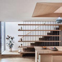 Ashland-Hsu-McCullough-1a - Design Milk Staircase Interior Design, Home Stairs Design, Apartment Interior Design, Architecture Design, House Staircase, Modern Staircase, Villa Design, House Design, Stairs In Living Room