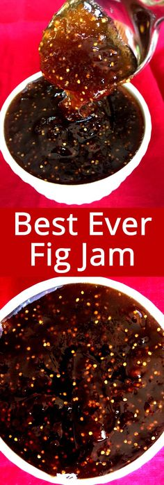 Homemade Fig Jam Homemade Fig Jam This homemade fig jam is amazing! Made with fresh figs, this is the best fig jam you& ever have! Super easy to make, this fig jam is a star of any cheese platter! Fig Jelly, Jam And Jelly, Homemade Fig Jam, Fig Preserves Recipe, Sauce Pizza, Do It Yourself Food, Jelly Recipes, Fig Jam Recipes, Dried Fig Recipes