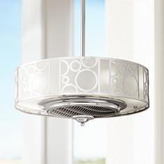 "24"" Casa Vieja® Chrome Drum Ceiling Fan"