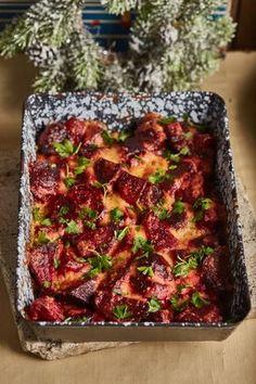 Krémes sült cékla   Street Kitchen Main Dishes, Side Dishes, Vegan, Vegetable Recipes, Good Food, Food And Drink, Veggies, Healthy Recipes, Healthy Food