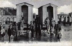 Les Baigneurs Old Photos, Vintage Photos, Calais, France, Bathing Beauties, Summer Beach, Sea Shells, Seaside, Coast