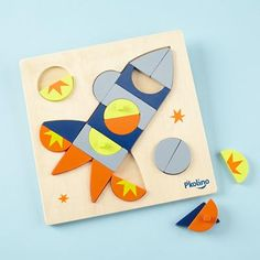 Kids Puzzles: Rocket Shaped Puzzle Game in All Toddler Gifts