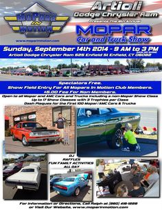 #Mopars in Motion Sept 14th 525 Enfield St Enfield Ct 06082