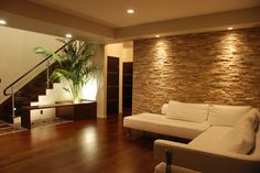 Living area in modern home Principal Architect, Malika Junaid