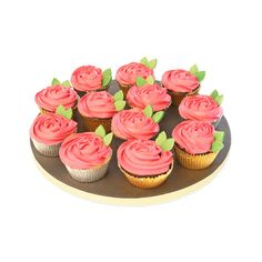 Dozen Red Rose Cupcakes (250 QAR) ❤ liked on Polyvore featuring home and kitchen & dining