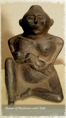 Mother and Nursing Child, 1000-1400 a.d.  Cahokia Mounds, Illinois, Mississippian Culture.