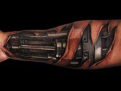 forearm cyborg tattoo designs Top 80 Best BioMechanical Tattoos for Men Amazing 3d Tattoos, Cool Arm Tattoos, Best Sleeve Tattoos, Tattoos For Guys, Tribal Tattoos, Simple Tattoo Designs, Tattoo Designs Men, Mechanical Sleeve Tattoo, Terminator Tattoo
