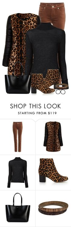 """Leopard"" by terry-tlc ❤ liked on Polyvore featuring Loro Piana, Girls On Film, T By Alexander Wang, Sam Edelman and Yves Saint Laurent"