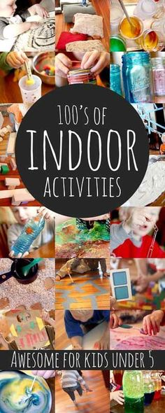 Hundreds of fun indoor activities for kids (awesome for kids under 5)