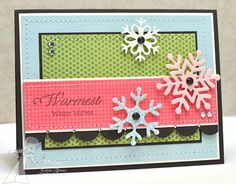 Moka Kristie stamps and Make a Snowflake dies from Taylored Expressions card By Karen Giron #Cardmaking