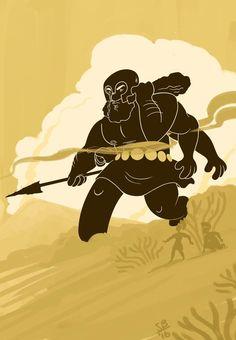 Sunita B: definitely inspired by N.C. Wyeth's Giant @Sketch_Dailies #gegenees