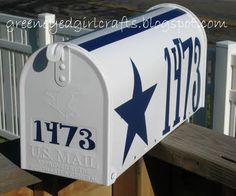 Custom Dallas Cowboy Mailbox