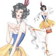 Snow White (Fashion by Guillermo_Meraz @Instagram) #SnowWhiteAndTheSevenDwarfs