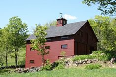 Traditional timber frame barn in Vermont